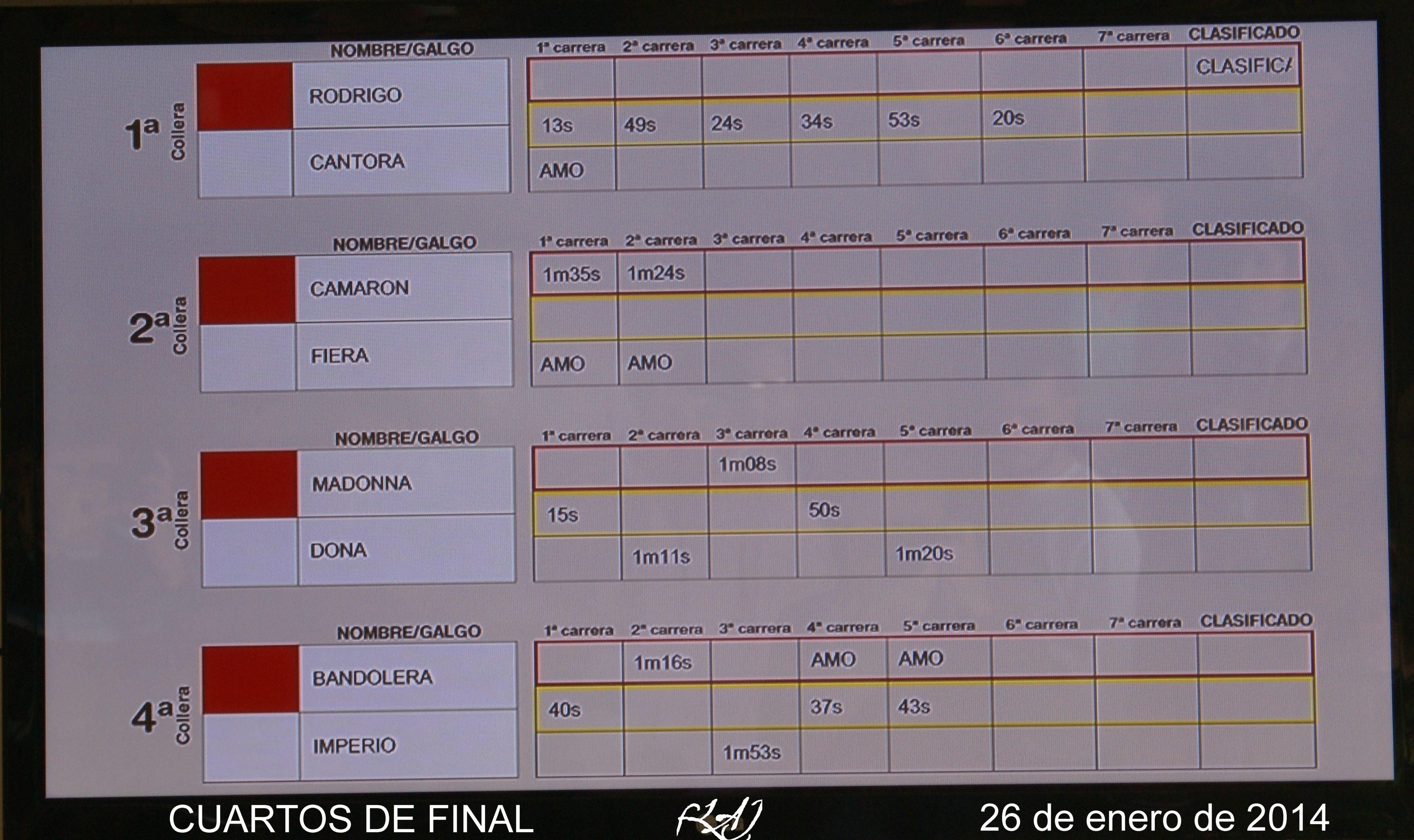 FINALIZARON LOS CUARTOS DE FINAL DE LA COPA DEL REY DE GALGOS EN ...