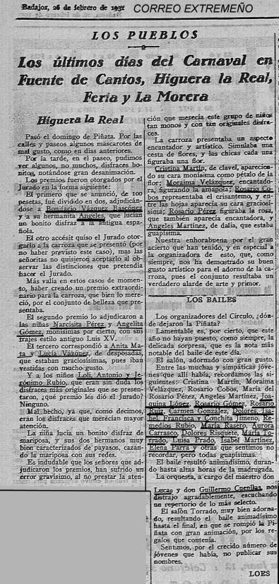CARNAVAL PIÑATA 1931 SUBRAYADO