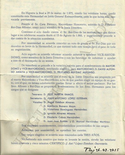 DIRECTIVA CRISTO 1975 MARCAS