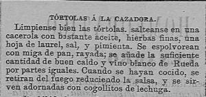 TÓRTOLAS A LA CAZADORA