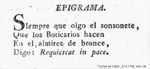 EPIGRAMA BOTICARIOS
