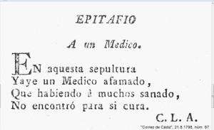EPITAFIO A UN MÉDICO