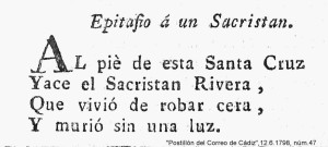 EPITAFIO A UN SACRISTÁN