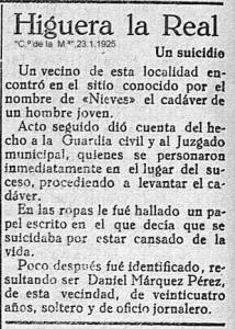 SUICIDIO NIEVES 1925