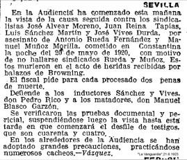 A JOSÉ ALVEAR C.N.T.1923
