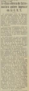 A JOSÉ ALVEAR C.N.T.1932