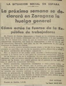 A JOSÉ ALVEAR C.N.T.1933. MAYO