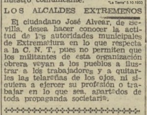 A JOSÉ ALVEAR C.N.T.5.10.1933