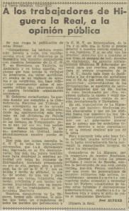 A LOS TRABAJADORES DE H.ª 1933.01