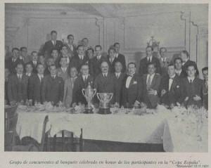 BANQUETE COPA ESPAÑA 1931