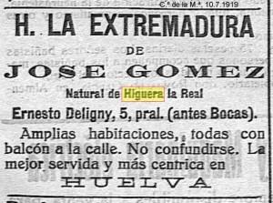 HOSTAL HIGUERA 1919